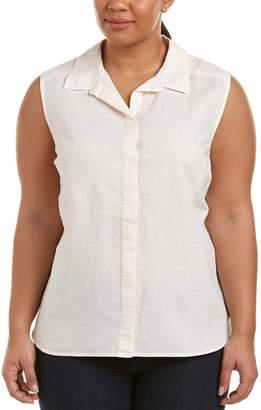 NYDJ Plus Vera Linen-Blend Top