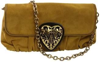 Gucci Gold Suede Clutch bags