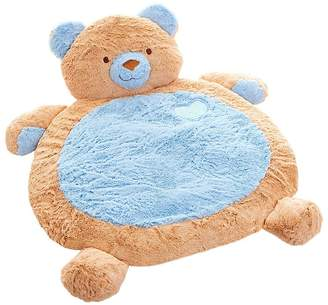 Factory Fuzzy Bear Baby Mat, Blue