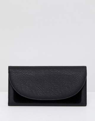 French Connection Foldover Clutch With Suede Panel