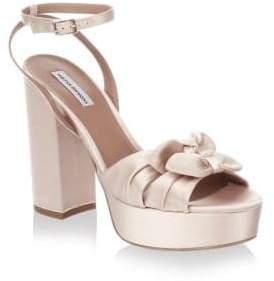 Tabitha Simmons Knot Satin Platform Sandals