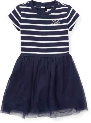 Ralph Lauren Tulle-Skirt T-Shirt Dress