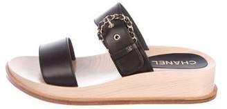 Chanel 2018 Wedge Slide Sandals