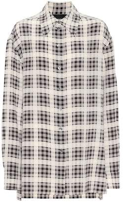 Marc Jacobs Checked silk shirt