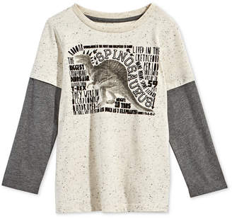 Epic Threads Toddler Boys Layered-Look Dinosaur-Print T-Shirt, Created for Macy's