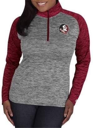 NCAA Florida State Seminoles Ladies 1/4 Zip Athletic-Fitness Pullover