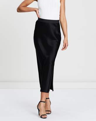 Theory Maxi Sateen Slip Skirt