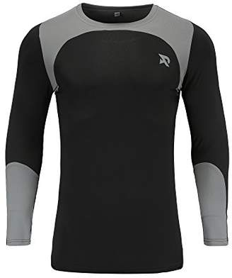 RADHYPE Men's Polyester Fitted Athletic Long Sleeve T-Shirt Compression Baselayer XXL