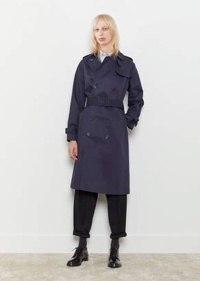 A.P.C. Greta Trench Coat Dark Navy