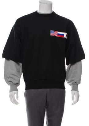 Gosha Rubchinskiy Double Sleeve Flag Sweatshirt w/ Tags