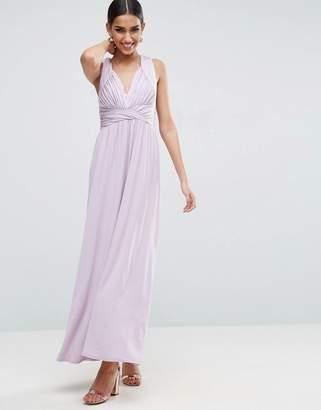Asos Design Drape Twist Back Maxi Dress