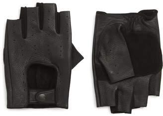 John Varvatos Unlined Fingerless Leather Gloves