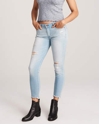 Abercrombie & Fitch Ripped Low Rise Ankle Jeans