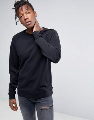 Asos Design Sweatshirt In Black