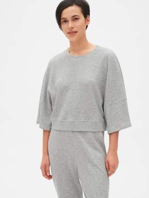 Gap Double Knit Wide-Sleeve Crop Pullover Sweatshirt