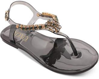 XOXO Joanie Embellished Thong Jelly Sandals