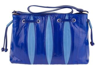 Lee Sands Two-Tone Eelskin Drawstring Bag