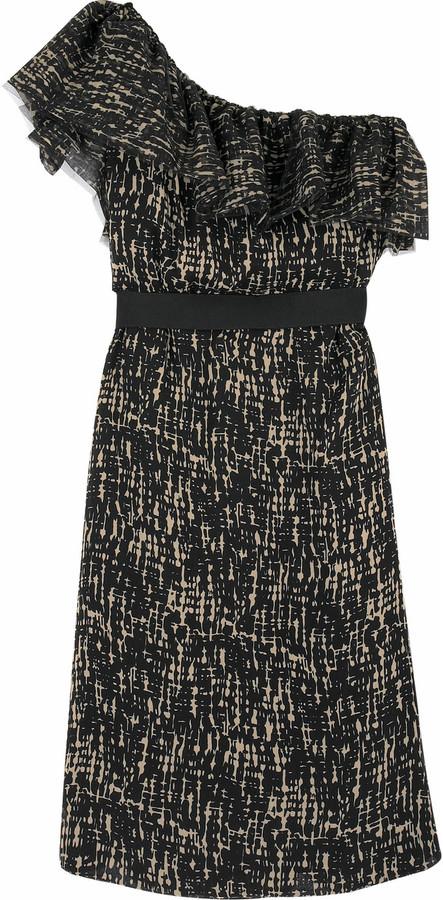 Lela Rose One shouldered dress