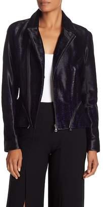 Elie Tahari Emalia Genuine Calf Fur Jacket