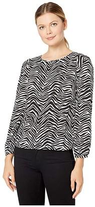 Vince Camuto Long Sleeve Zebra Peaks Blouse