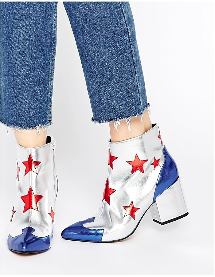 ASOS COLLECTION ASOS RADIO HOTSHOT Western Ankle Boots