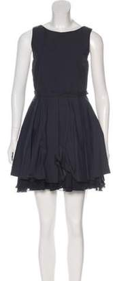 Alice + Olivia Mini Pleated Dress Black Mini Pleated Dress