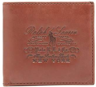 Polo Ralph Lauren Logo Embossed Bi Fold Leather Wallet - Mens - Brown