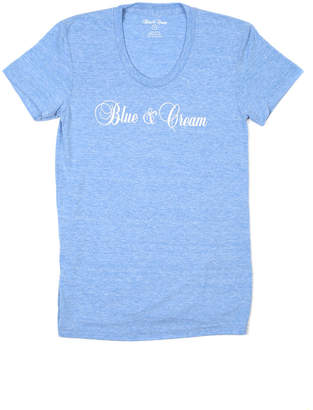 Blue & Cream Blue&Cream Script Crewneck Tee
