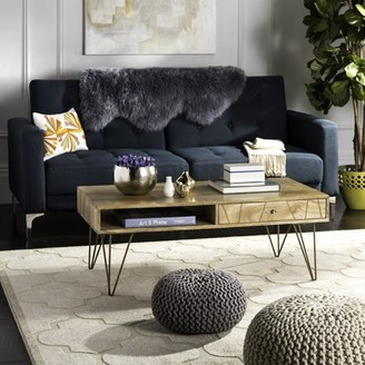 Safavieh Marigold Mid-Century Coffee Table with Drawer, Natural