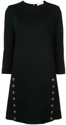 Chloé button detail shift dress