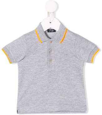 Il Gufo stripe trimmed polo shirt