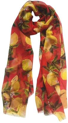 Dolce & Gabbana Red Silk Scarves