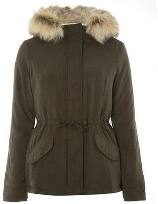 Dorothy Perkins Womens **Only Khaki 'Lucca' Parka Coat