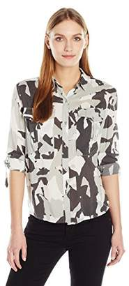 Calvin Klein Jeans Women's Women's Long Sleeve Utility Shirt