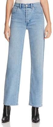 Burberry Straight-Leg Jeans in Light Stone Blue