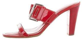Tod's Patent Leather Slide Sandals