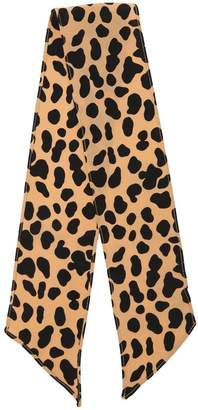 Leopard Print Short Scarf