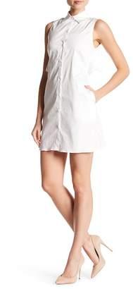 Zac Posen Ruffle Back Cutout Shirt Dress
