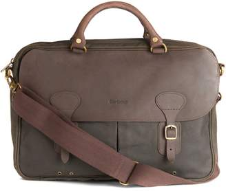 Barbour Waxed Cotton & Leather Briefcase