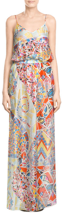 Emilio Pucci Emilio Pucci Printed Silk Maxi Dress