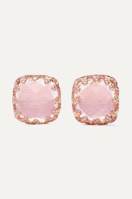 Larkspur & Hawk Jane Small 18-karat Rose Gold-dipped Quartz Earrings