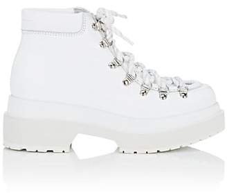MM6 MAISON MARGIELA Women's Leather Platform Ankle Boots - White