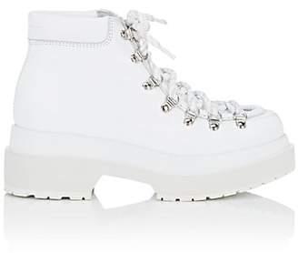 MM6 MAISON MARGIELA Women's Leather Platform Ankle Boots - White
