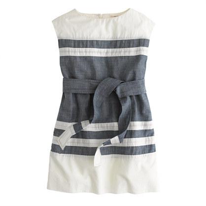 J.Crew Girls' chambray-stripe dress