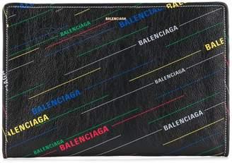 Balenciaga Bazar printed pouch