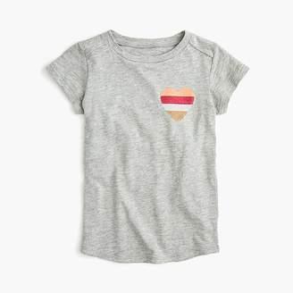 J.Crew Girls' T-shirt with glitter heart