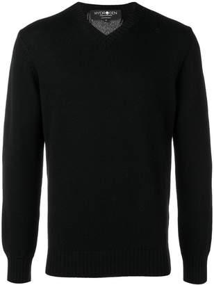 Hydrogen thunderlight intarsia sweater