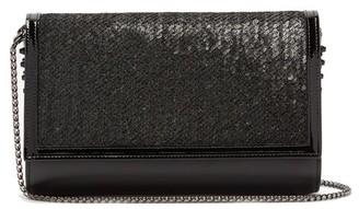 Christian Louboutin Paloma Sequin Embellished Clutch Bag - Womens - Black