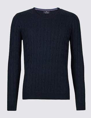 Marks and Spencer Cotton Cashmere Cable Knit Jumper