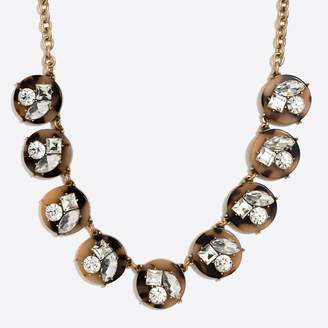 J.Crew Factory Tortoise crystal statement necklace